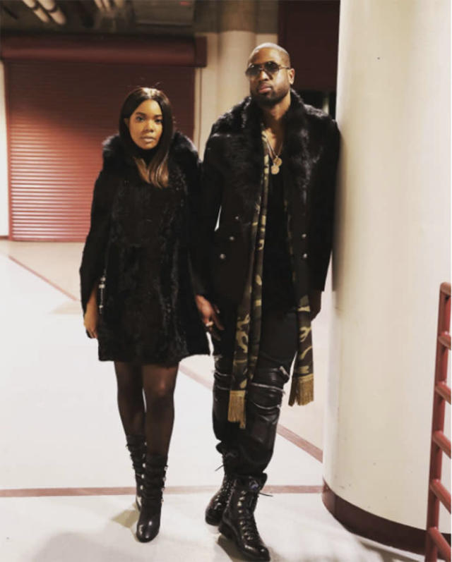 <p>In January, Union posted an image of the pair in matching fur coats. (Photo: Instagram) </p>