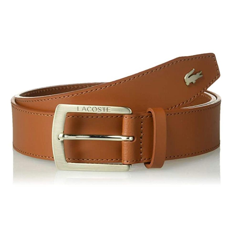 """<p><strong>Lacoste</strong></p><p>amazon.com</p><p><strong>$65.00</strong></p><p><a href=""""https://www.amazon.com/dp/B07F7T5NKD?tag=syn-yahoo-20&ascsubtag=%5Bartid%7C2139.g.36521961%5Bsrc%7Cyahoo-us"""" rel=""""nofollow noopener"""" target=""""_blank"""" data-ylk=""""slk:BUY IT HERE"""" class=""""link rapid-noclick-resp"""">BUY IT HERE</a></p><p>If you're going to lean into prep style, you might as well commit right down to your accessories—what's preppier than Lacoste? Made from caramel-colored leather and featuring the brand's trademark crocodile logo, this timeless piece is a wardrobe staple in the making. </p>"""