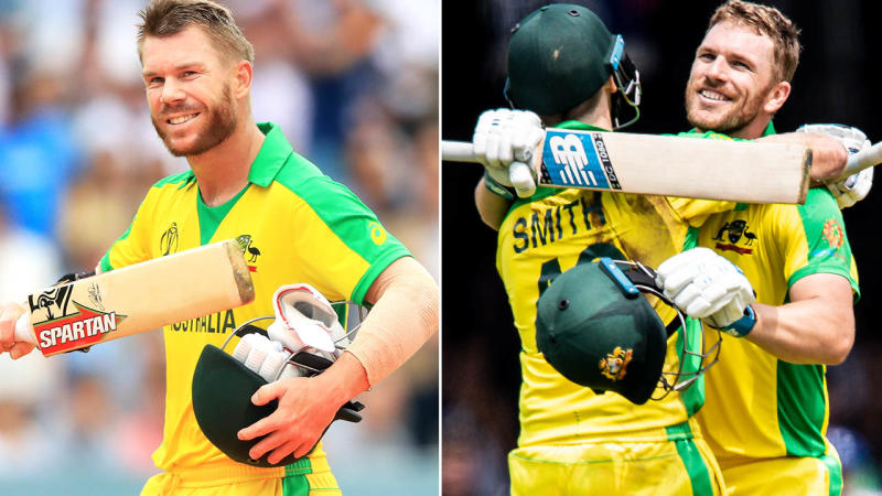 David Warner and Aaron Finch fired again. Image: Getty