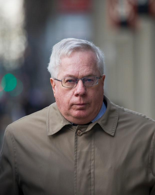 Retired neurologist Keith Hoyte leaves the courthouse in Calgary on Jan. 6, 2020. Hoyte admitted in court to sexually assaulting 28 female patients over three decades and now faces 15 additional charges.  (Todd Korol/The Canadian Press - image credit)