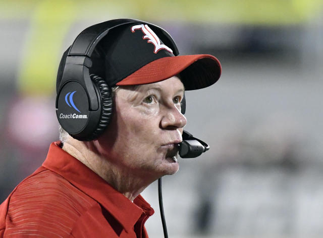 Louisville hasn't done much of anything positive in the post-Lamar Jackson era under head coach Bobby Petrino. (AP)