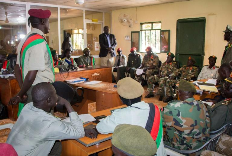 The verdicts for 10 South Sudanese soldiers are announced at the military court in Juba, South Sudan. They were found guilty for their role in a hotel attack in which five foreign aid workers were gang-raped and a journalist was killed