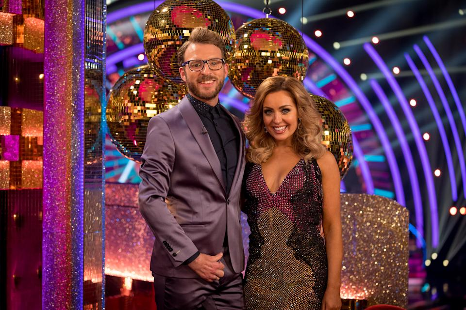 Amy Dowden is partnered with TV presenter JJ Chalmers on Strictly this year. (BBC)