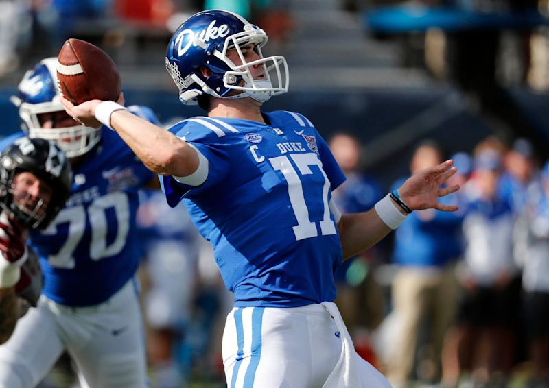Duke quarterback Daniel Jones went to the Giants with the No. 6 overall pick. (AP)