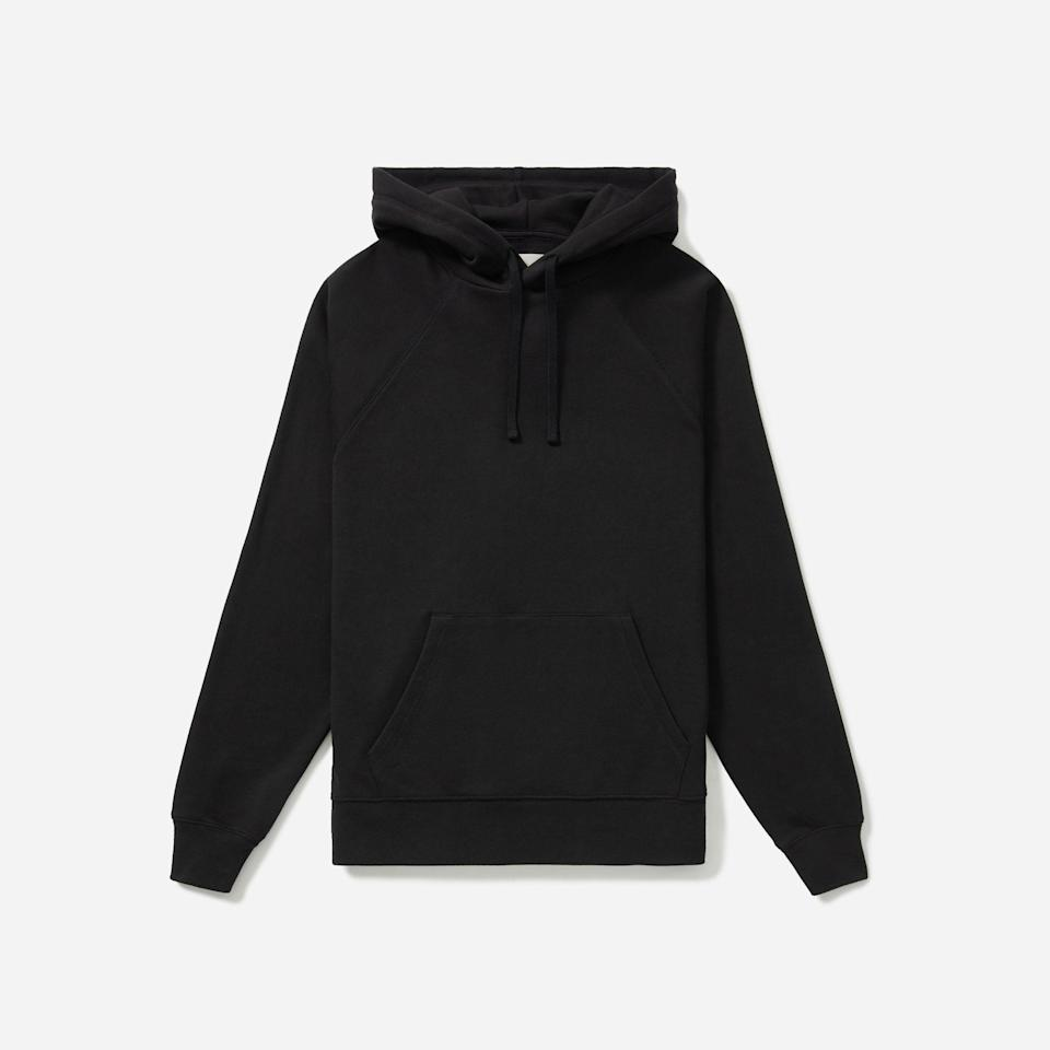 """<p><strong>Everlane</strong></p><p>everlane.com</p><p><strong>$39.00</strong></p><p><a href=""""https://go.redirectingat.com?id=74968X1596630&url=https%3A%2F%2Fwww.everlane.com%2Fproducts%2Fmens-ltwt-french-terry-hoodie-black&sref=https%3A%2F%2Fwww.esquire.com%2Fstyle%2Fmens-fashion%2Fg33391536%2Feverlane-summer-sale%2F"""" rel=""""nofollow noopener"""" target=""""_blank"""" data-ylk=""""slk:Buy"""" class=""""link rapid-noclick-resp"""">Buy</a></p><p>What was it I was saying about french terry? </p>"""