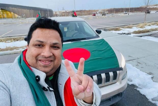 Ahmed Al-Emran is the organizer of the car rally that took place in Calgary on Friday.