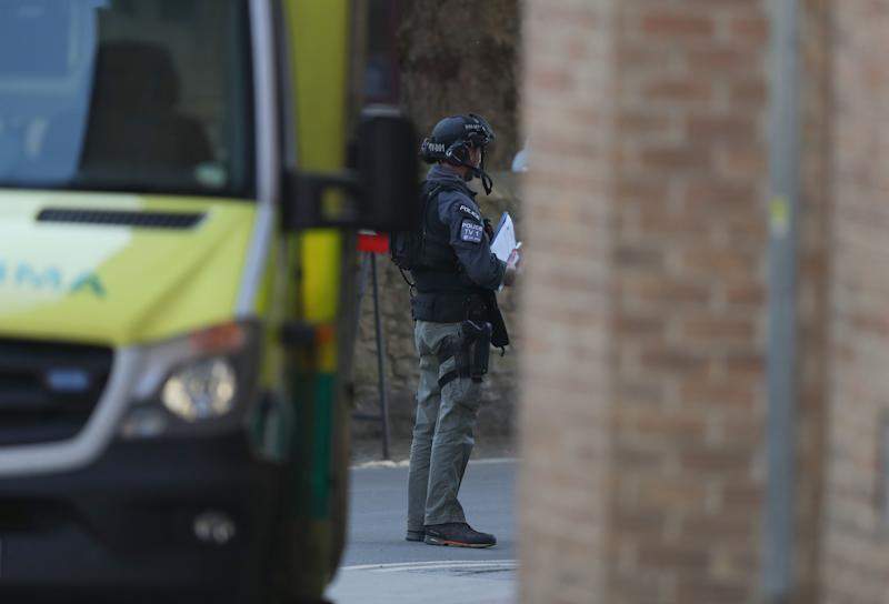 Police presence near a property in Oxford where the stand-off took place (Picture: PA)