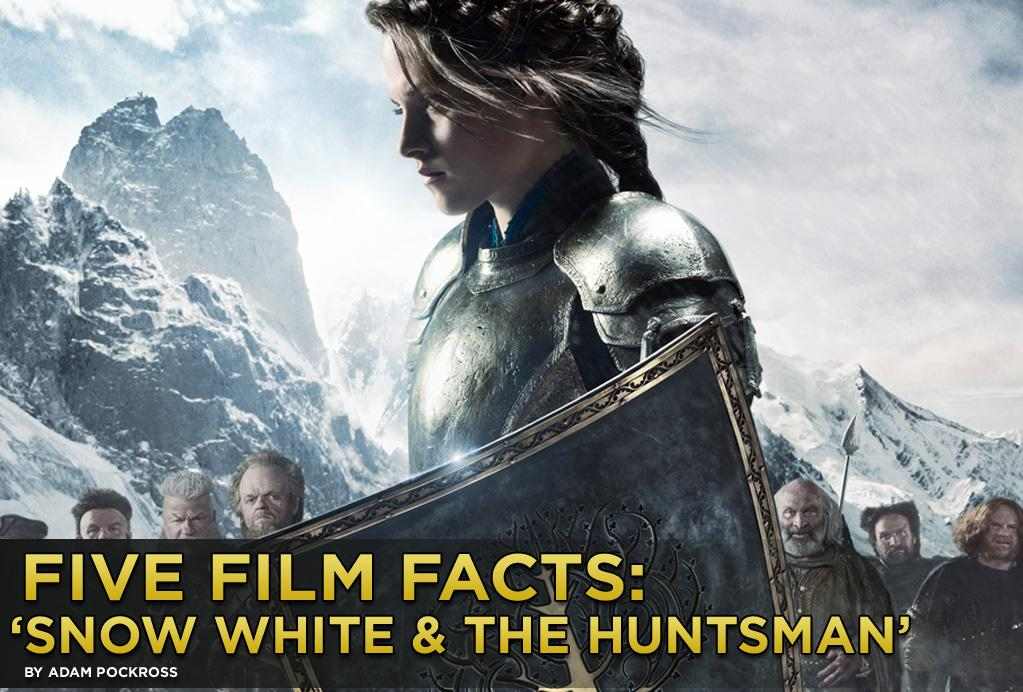 """Remember Walt Disney's very first fairy tale, """"Snow White and the Seven Dwarves"""" (1937)? Remember the plucky little dwarves? And the Heigh-ho-ing? And the happy little birds? Well scrap that vision firmly from your mind, because """"<a href=""""http://movies.yahoo.com/movie/snow-white-and-the-huntsman/"""">Snow White and the Huntsman</a>,"""" which opens this weekend, is not your Uncle Walt's Snow White. First time director Rupert Sanders's vision is a definitively darker, impressively more epic version of the enchanted tale originally told by the Brothers Grimm. While we know that Kristen Stewart, Chris Hemsworth, and Charlize Theron are fair bets to make box office gold, here are five facts about the film you might know."""