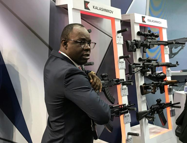 Russia has been a major supplier of weapons to Africa and the country's arms exporter hopes the first Russia-Africa summit will help boost business on the continent (AFP Photo/Andrea PALASCIANO)
