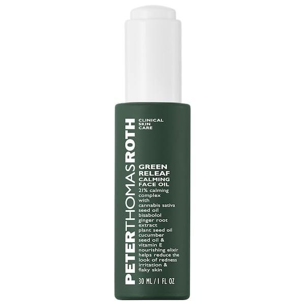 "<p>The skin-nurturing ""releaf"" in this <span>Peter Thomas Roth Green Releaf Calming Face Oil</span> ($68) comes from cannabis sativa seed oil but there's also bisabolol and ginger root extract inside, too. This elixir can bring brightness back, cool any inflammation, and reduce flakiness that may be especially noticeable in winter months.</p>"