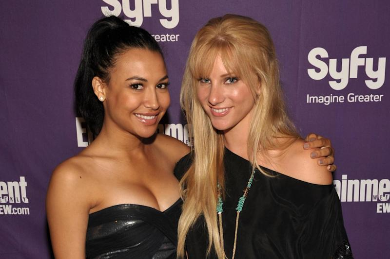 Naya Rivera and Heather Morris at the EW and SyFy party during Comic-Con 2010 on 24 July 2010 in San Diego, California: John Shearer/Getty Images for EW