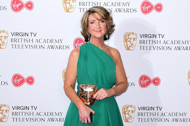 Victoria Derbyshire with the Bafta for Best News Coverage in 2017 (PA Archive/PA Images)