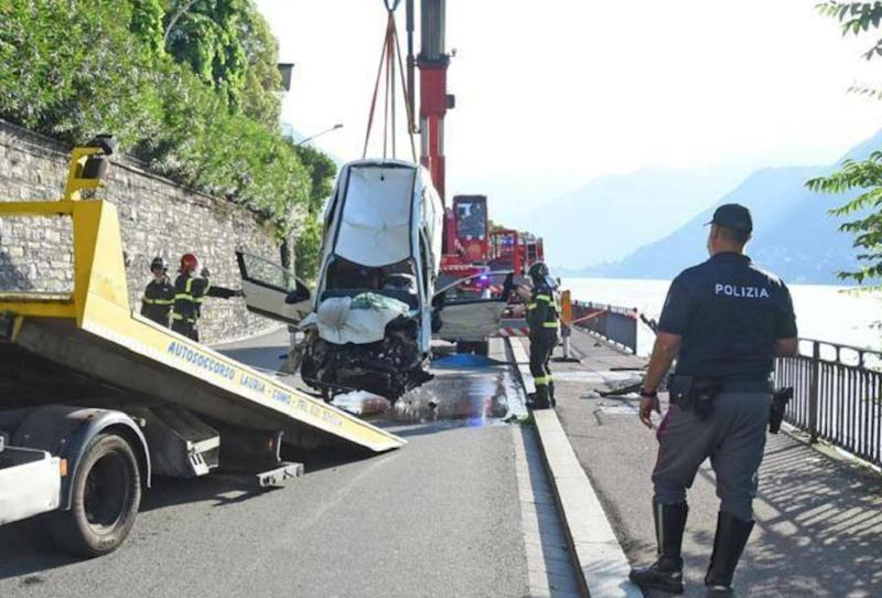 como incidente stradale cernobbio