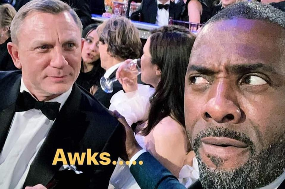 Idris Elba and Daniel Craig have awkward Golden Globes encounter