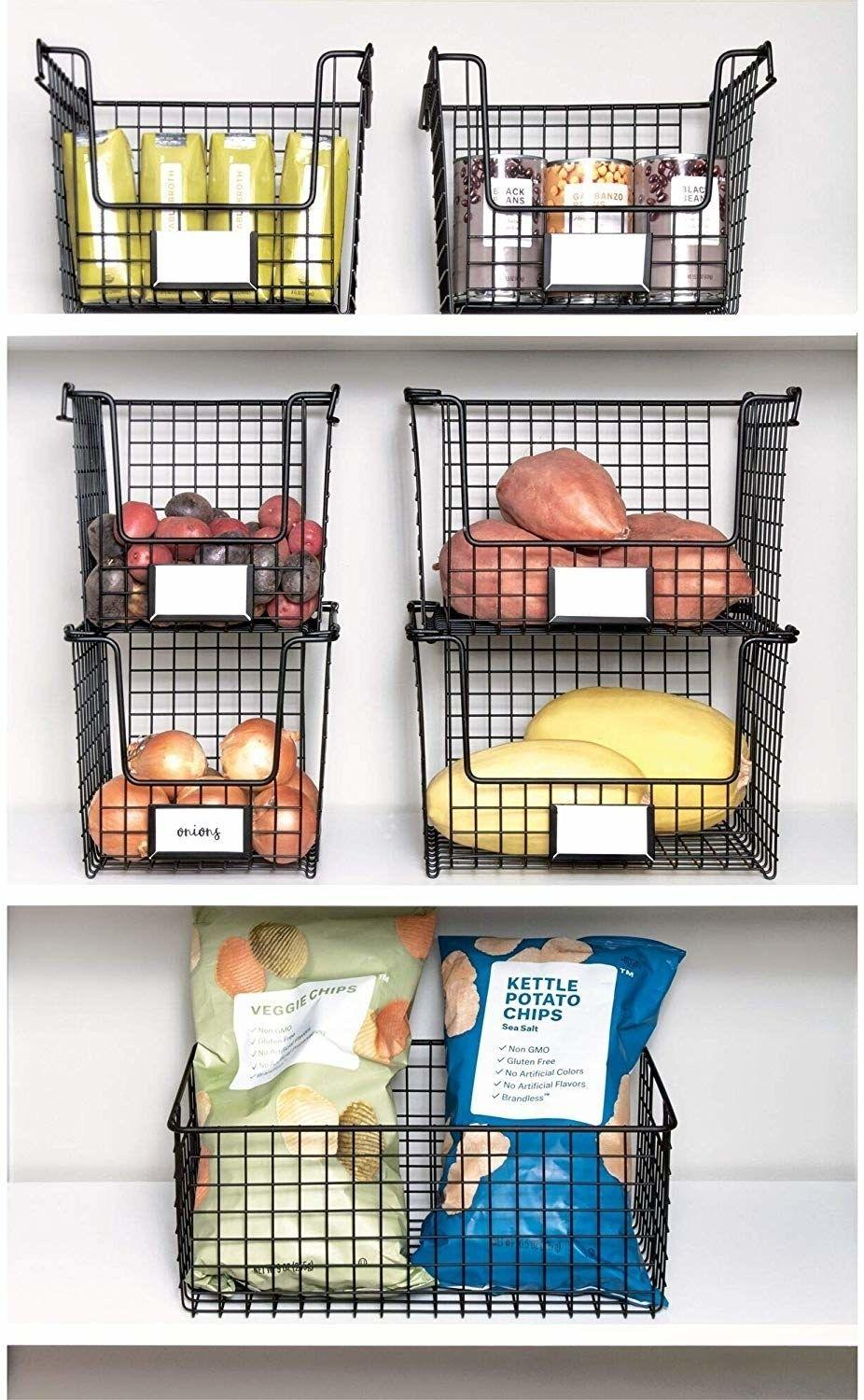 """Make your pantry look picture-perfect and know exactly where your cans of black beans are.<br /><br /><strong>Promising review:</strong>""""I love these baskets. They have lots of space and look great in my pantry."""" —<a href=""""https://www.amazon.com/gp/customer-reviews/RWU5IRAPIOINU?&linkCode=ll2&tag=huffpost-bfsyndication-20&linkId=63dcd7da36002981b5207aa48be0d445&language=en_US&ref_=as_li_ss_tl"""" target=""""_blank"""" rel=""""nofollow noopener noreferrer"""" data-skimlinks-tracking=""""5854435"""" data-vars-affiliate=""""Amazon"""" data-vars-href=""""https://www.amazon.com/gp/customer-reviews/RWU5IRAPIOINU?tag=bfmal-20&ascsubtag=5854435%2C21%2C37%2Cmobile_web%2C0%2C0%2C16324224"""" data-vars-keywords=""""cleaning,fast fashion"""" data-vars-link-id=""""16324224"""" data-vars-price="""""""" data-vars-product-id=""""20942028"""" data-vars-product-img="""""""" data-vars-product-title="""""""" data-vars-retailers=""""Amazon"""">Yesenia<br /><br /></a><strong>Get it from Amazon for<a href=""""https://www.amazon.com/iDesign-Classico-Stackable-Countertop-Organization/dp/B07MVX8C9J?&linkCode=ll1&tag=huffpost-bfsyndication-20&linkId=bc040d1f0fa64ec1db1b09e4bfc82ef2&language=en_US&ref_=as_li_ss_tl"""" target=""""_blank"""" rel=""""nofollow noopener noreferrer"""" data-skimlinks-tracking=""""5854435"""" data-vars-affiliate=""""Amazon"""" data-vars-asin=""""B07Q7D67WZ"""" data-vars-href=""""https://www.amazon.com/dp/B07Q7D67WZ?tag=bfmal-20&ascsubtag=5854435%2C21%2C37%2Cmobile_web%2C0%2C0%2C16324336"""" data-vars-keywords=""""cleaning,fast fashion"""" data-vars-link-id=""""16324336"""" data-vars-price="""""""" data-vars-product-id=""""18668647"""" data-vars-product-img=""""https://m.media-amazon.com/images/I/51z1-9G3eCL.jpg"""" data-vars-product-title=""""iDesign Classico Storage Basket with Handles for Pantry, Kitchen, Bathroom, Countertop, and Desk Organization, Stackable - Medium"""" data-vars-retailers=""""Amazon"""">$17.66+</a>(available in two sizes).</strong>"""
