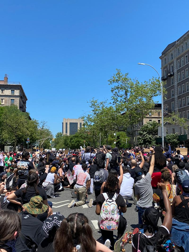 Protesters in New York City in May 2020.