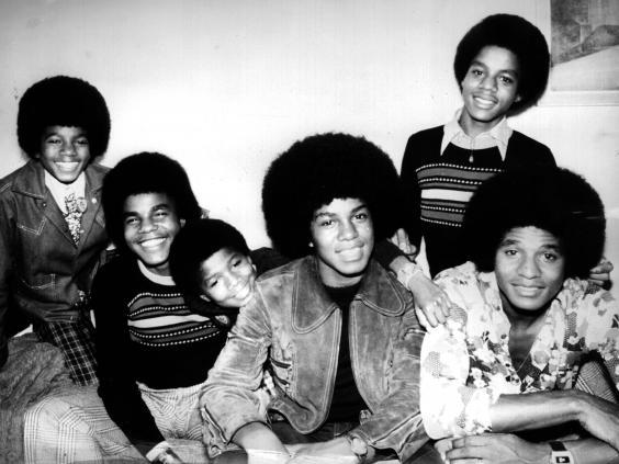 Five brothers from Gary, Indiana: Michael (left) didn't stay in the background for long (Getty)