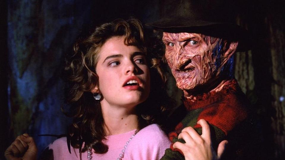 Englund as Freddy Krueger with Heather Langenkamp (Nancy) in 1984's 'A Nightmare on Elm Street' (credit: New Line Cinema)
