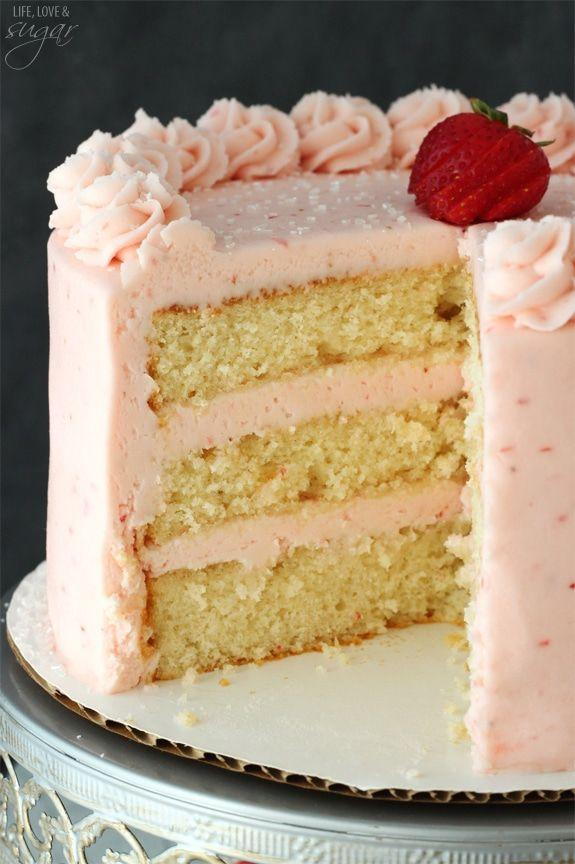 "<p>Made with Moscato cake and covered in homemade strawberry icing, this celebration cake will be a Mother's Day favorite.</p><p><strong>Get the recipe at <a href=""https://www.lifeloveandsugar.com/strawberry-moscato-layer-cake/"" rel=""nofollow noopener"" target=""_blank"" data-ylk=""slk:Life Love & Sugar"" class=""link rapid-noclick-resp"">Life Love & Sugar</a>.</strong></p><p><strong><a class=""link rapid-noclick-resp"" href=""https://go.redirectingat.com?id=74968X1596630&url=https%3A%2F%2Fwww.walmart.com%2Fsearch%2F%3Fquery%3Dmeasuring%2Bcups&sref=https%3A%2F%2Fwww.thepioneerwoman.com%2Ffood-cooking%2Fmeals-menus%2Fg36066375%2Fmothers-day-cakes%2F"" rel=""nofollow noopener"" target=""_blank"" data-ylk=""slk:SHOP MEASURING CUPS"">SHOP MEASURING CUPS</a><br></strong></p>"