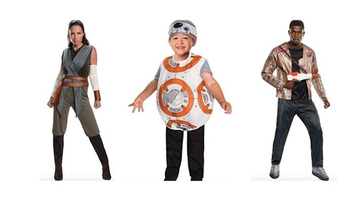 The force will be with you when you're all dressed as your favorite Star Wars characters.