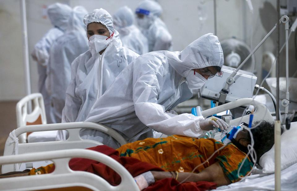 <p>File image: A rise in Covid cases in India led to an oxygen crisis for weeks</p> (AP)