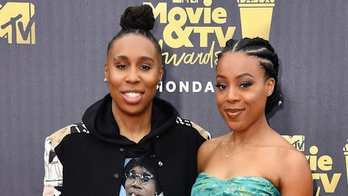 Actor/writer/producer Lena Waithe (left) and Alana Mayo attend the 2018 MTV Movie & TV Awards in Santa Monica. (Photo by Frazer Harrison/Getty Images)