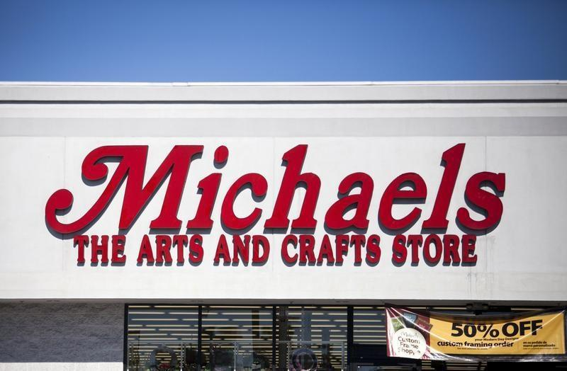A Michaels arts and crafts store is seen in San Diego, California