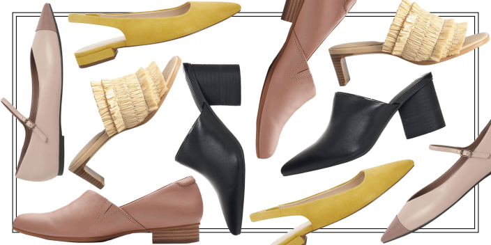 """<p>Spring 2021 marks a year since most of us have been remotely working and socializing. Many of us haven't given much thought about our shoes (after all a pair of <a href=""""https://www.goodhousekeeping.com/clothing/g33264582/most-comfortable-shoes/"""" rel=""""nofollow noopener"""" target=""""_blank"""" data-ylk=""""slk:sneakers"""" class=""""link rapid-noclick-resp"""">sneakers</a> or slippers suffice for most of our activities). But with warmer weather comes more opportunity to be outside (socially distanced, of course), and that means we can get a little dressed up now and again. If you're looking to up your shoe game — whether you prefer sneakers, <a href=""""https://www.goodhousekeeping.com/beauty/fashion/g28750049/most-comfortable-flats/"""" rel=""""nofollow noopener"""" target=""""_blank"""" data-ylk=""""slk:flats"""" class=""""link rapid-noclick-resp"""">flats</a>, heels, or mules — take a look at the selects below, which offer the very best in spring shoe trends. We took inspiration from what we saw on the runways recently to bring you affordable yet stylish options. </p>"""