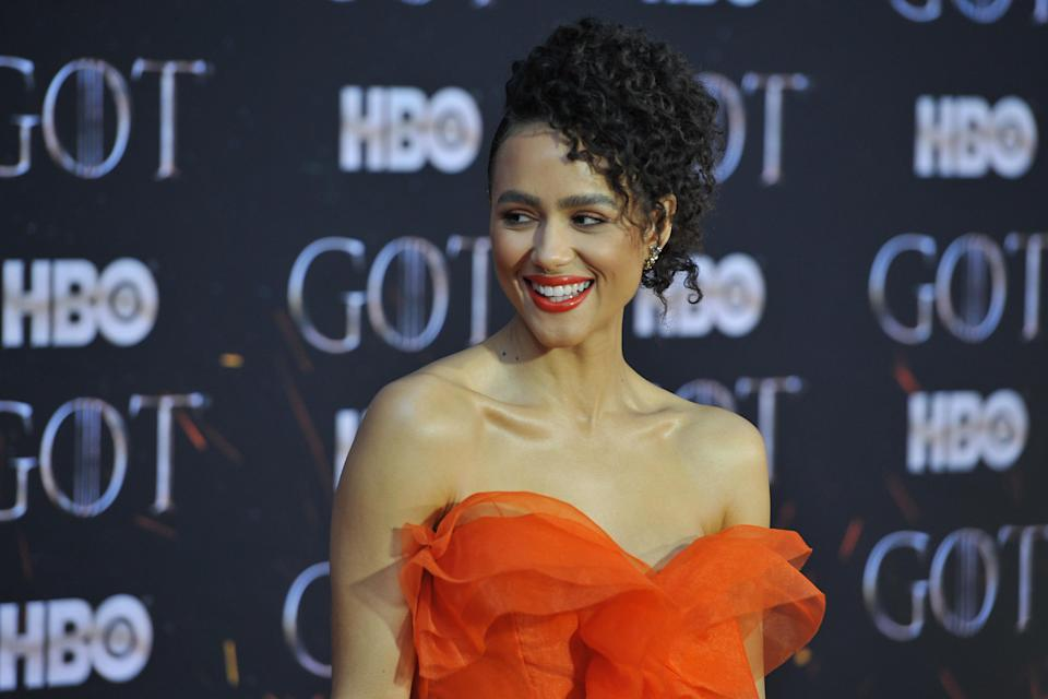 "Nathalie Emmanuel attends HBO's ""Game of Thrones"" eight and final season premiere at Radio City Music Hall in New York, NY, April 3, 2019. (Photo by Anthony Behar/Sipa USA)"