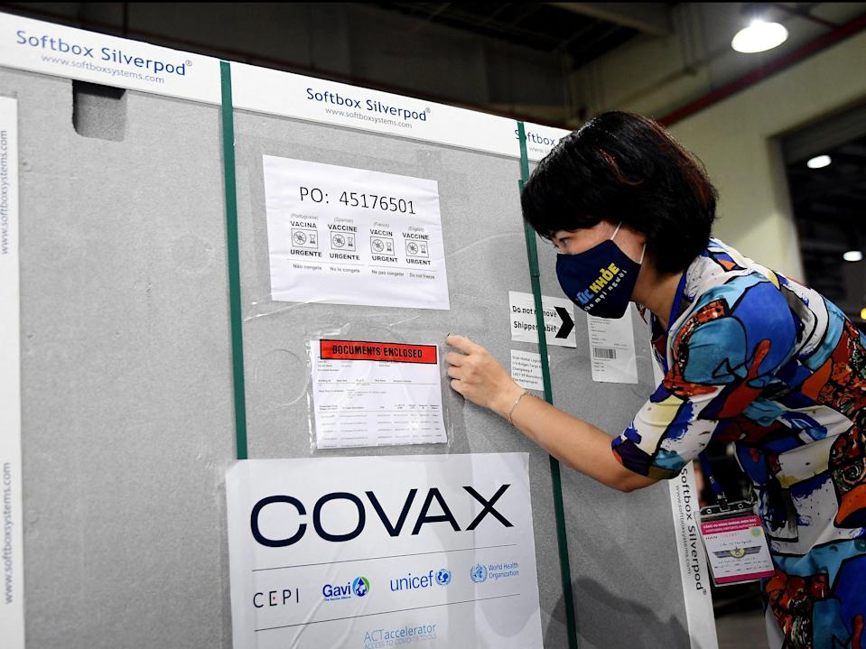 <p>Covax intends to deliver two billion doses to 92 of the world's poorest nations by the end of 2021</p> (AFP via Getty Images)