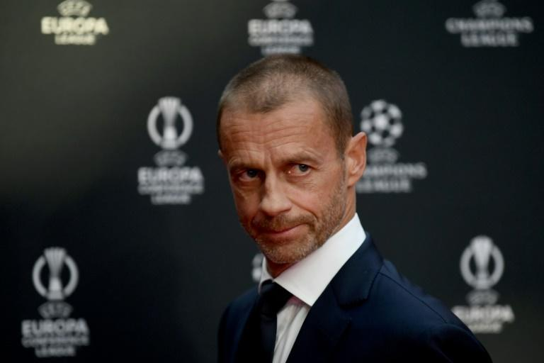 UEFA President Aleksander Ceferin at the Champions League draw in Istanbul in August (AFP/OZAN KOSE)