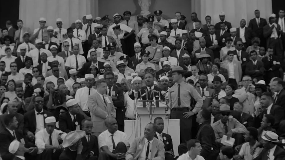 Dr. Martin Luther King Jr. on the steps of the Lincoln Memorial in 1963 (Photo: Courtesy IFC Films)