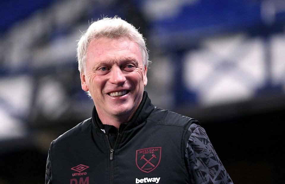 """<p>Moyes: """"I thought you were going to say ginger nut!""""</p> (Getty Images)"""