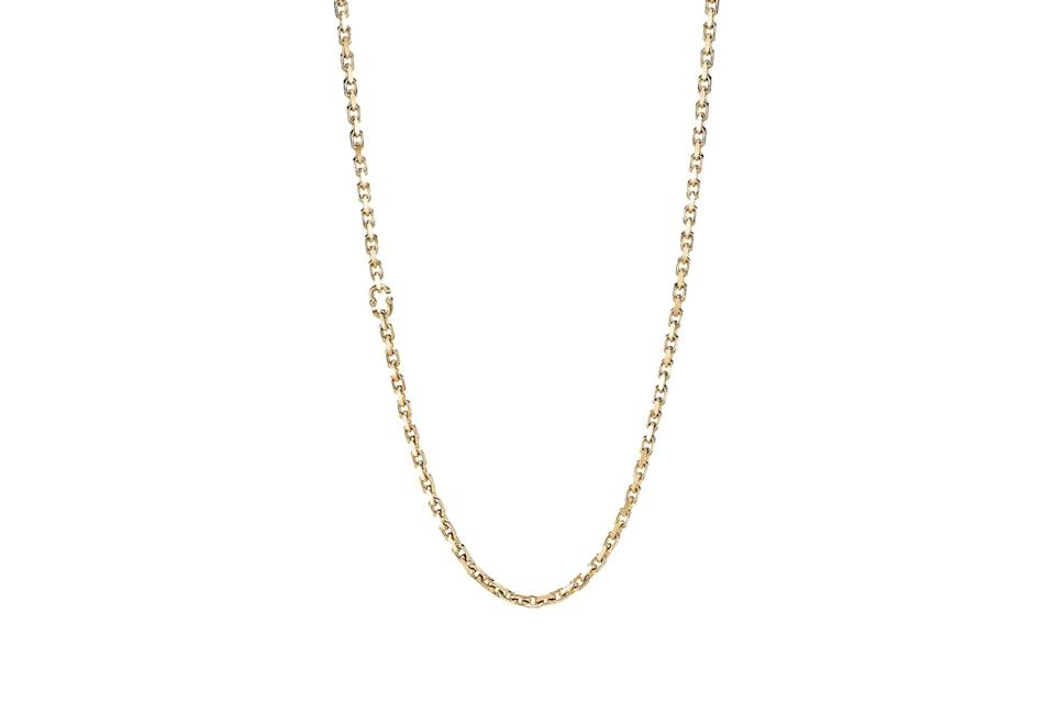 """$15500, Tiffany & Co.. <a href=""""https://www.tiffany.com/jewelry/necklaces-pendants/tiffany-1837-makers-chain-necklace-in-18k-gold-24-63448850/"""" rel=""""nofollow noopener"""" target=""""_blank"""" data-ylk=""""slk:Get it now!"""" class=""""link rapid-noclick-resp"""">Get it now!</a>"""