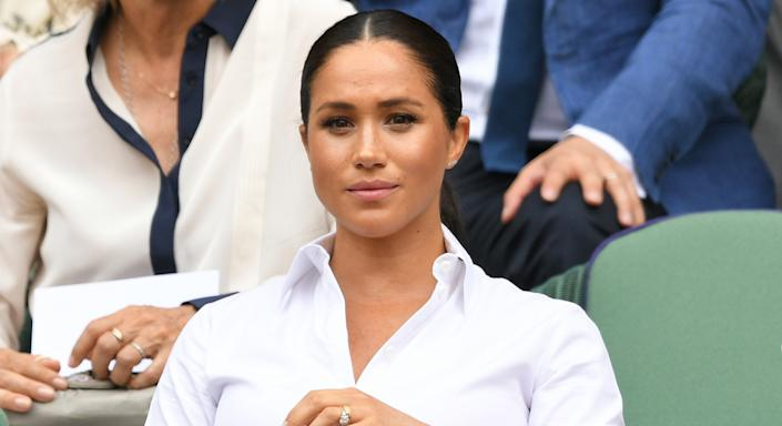 Meghan Markle is battling with scammers who claimed she used diet pills for post-pregnancy weight loss [Image: Getty]