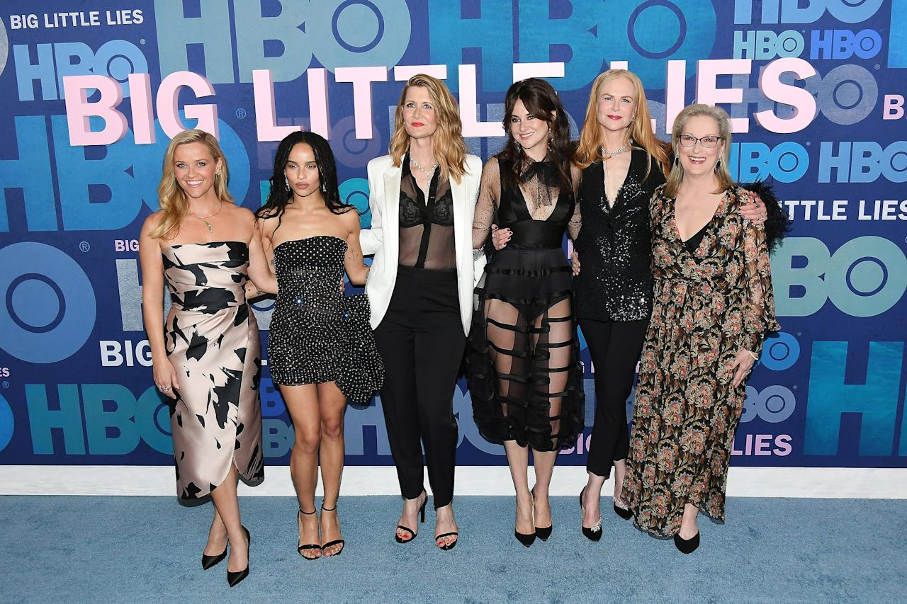 """""""I've met so many wonderful women, specifically my castmates on <em>Big Little Lies.</em> They've really become a support system for me, and I hope I've done the same for them. Before we knew we were coming back for a second season, we kept in touch — group texts and emails and stuff like that.""""  — to <em><a href=""""https://www.instyle.com/celebrity/zoe-kravitz-may-cover"""">InStyle</a></em>"""