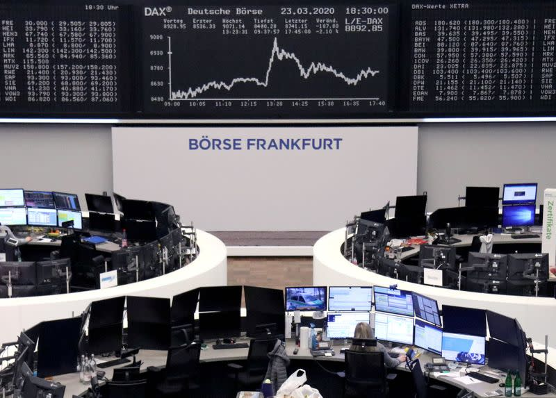 European shares mark best day since 2008 on hopes of calmer markets