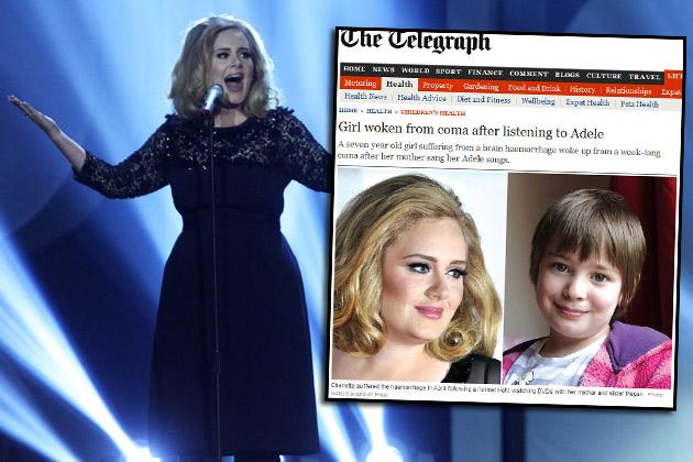 "Adeles Hit ""Rolling in the Deep"" weckte Charlotte (r.) aus dem Koma (Bilder: Getty Images, The Telegraph)"