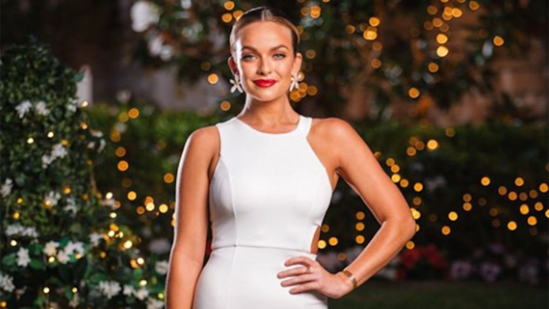 2019 Bachelor Australia contestant Abbie Chatfield has been seen in a wedding dress