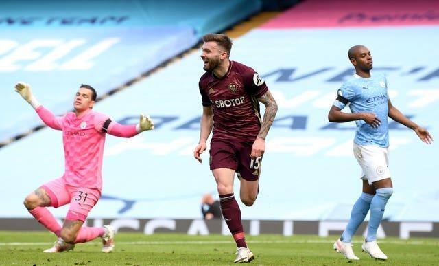 Stuart Dallas stunned City with two goals at the Etihad Stadium