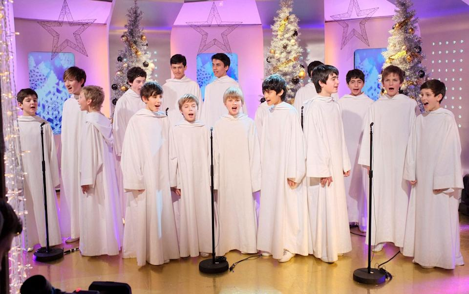 Libera performing on the television programme This Morning in 2011 - Steve Meddle/Shutterstock