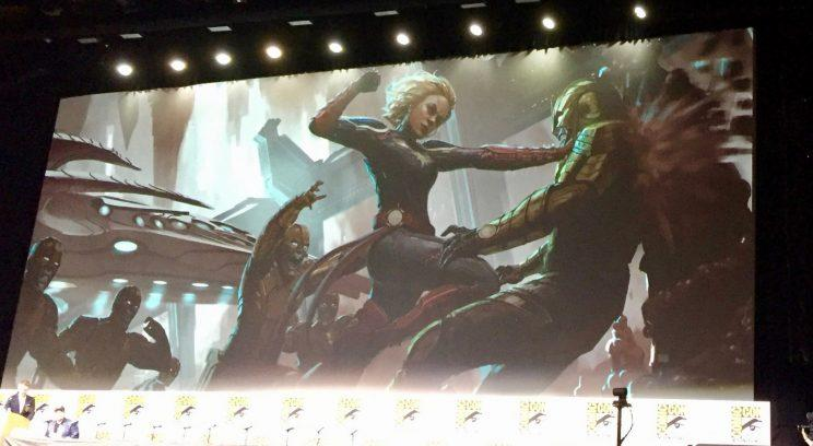 First Captain Marvel Concept Art Shows Brie Larson In Her Supersuit Ign was among the media outlets invited to an open house monday night at marvel studios' office on the disney lot in burbank for a preview of what's in store in phase 3 of the marvel cinematic universe. yahoo sports