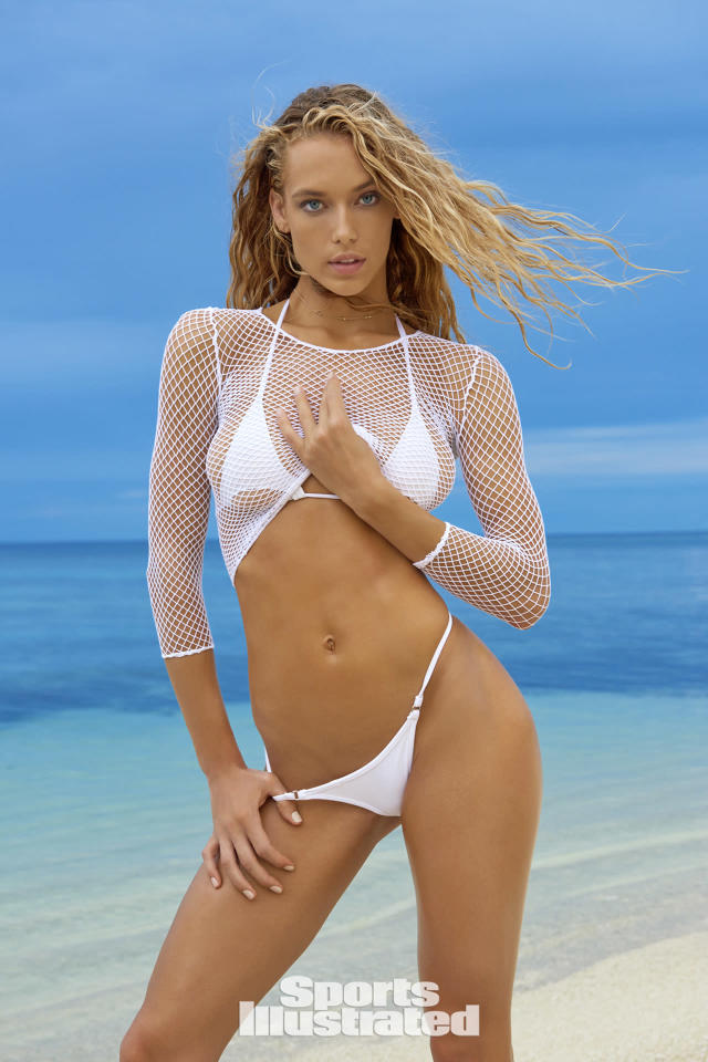 <p>Hannah Ferguson was photographed by Yu Tsai in Fiji. Swimsuit by Toxic Sadie Swimwear. Top by We Love Colors. </p>