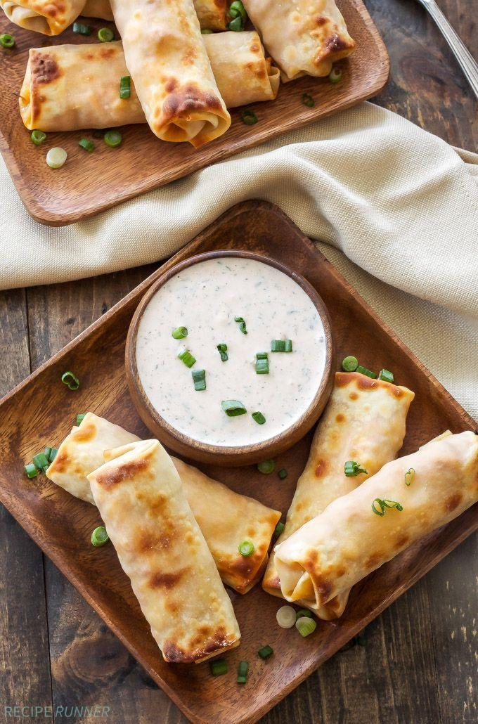 "<p>These baked bites are loaded with your choice of either cheddar or Monterey jack cheese. (Or, of course, you could add both!)</p><p><strong>Get the recipe at <a href=""https://reciperunner.com/baked-bbq-chicken-egg-rolls-bbq-ranch-dipping-sauce/"" rel=""nofollow noopener"" target=""_blank"" data-ylk=""slk:Recipe Runner"" class=""link rapid-noclick-resp"">Recipe Runner</a>.</strong></p>"