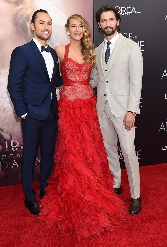 <p>Director Lee Toland Krieger, Lively, and actor Michiel Huisman attend <i>The Age of Adaline</i> New York premiere on April 19, 2015. Lively's performance was critically acclaimed and she received several award nominations for her portrayal of a woman who stops aging after an accident. <i>(Photo: Jamie McCarthy/Getty Images)</i></p>