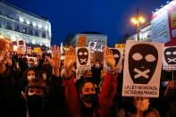 Supporters of Catalan rapper Pablo Hasel protest in Madrid