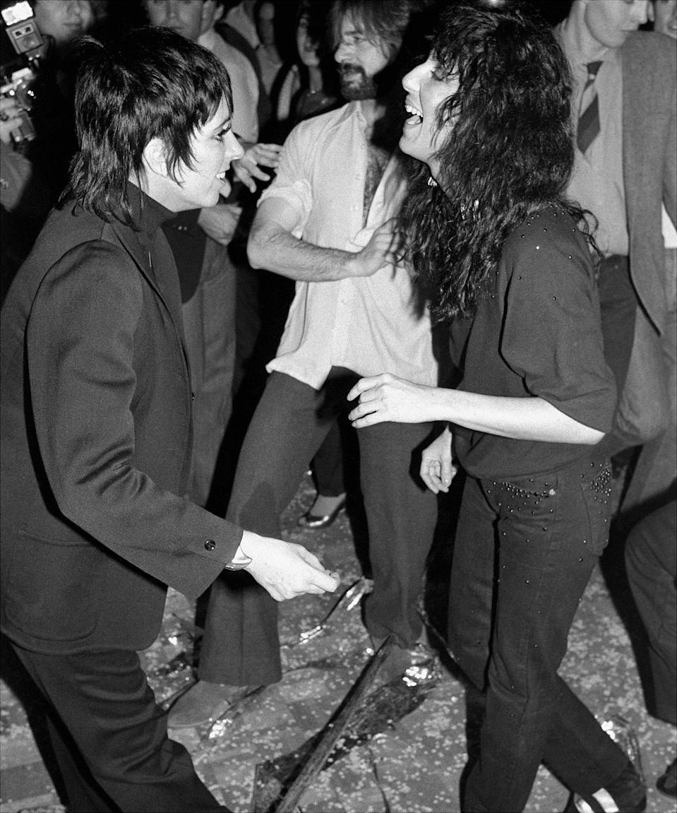 Cher and Minnelli dancing at Studio 54, 10 January 1982