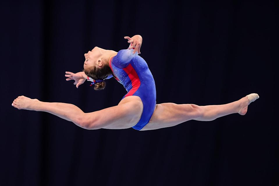 <p>McCallum most recently claimed the bronze medal on beam at the 2021 US Gymnastics Championships. She was part of the conversation at Trials as an all-around contender for the team: her all-around record is solid with a fourth-place finish in this year's GK US Classic and a third-place finish at 2019 Nationals. The 18-year-old former world team champion is a future gymnast at the University of Utah.</p>