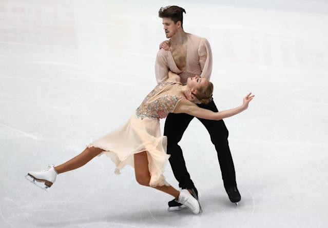 Figure Skating - World Figure Skating Championships - The Mediolanum Forum, Milan, Italy - March 24, 2018 Russia's Alexandra Stepanova and Ivan Bukin during the Ice Dance Free Dance REUTERS/Alessandro Bianchi