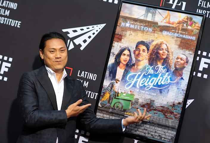 """Director Jon M. Chu attends the Los Angeles Latino International Film Festival (LALIFF) special preview screening of """"In The Heights"""" at the TCL Chinese Theater in Hollywood, California on June 4, 2021."""